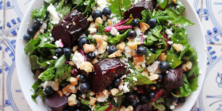 Beet, Blueberry & Kale Salad
