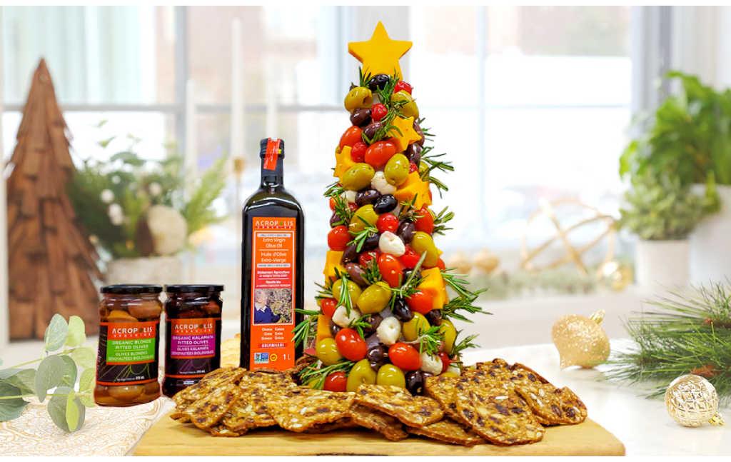 Organic Olive Christmas Tree Appetizer